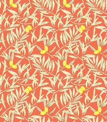 Olive twigs seamless pattern