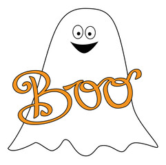 Happy Halloween Boo Ghost