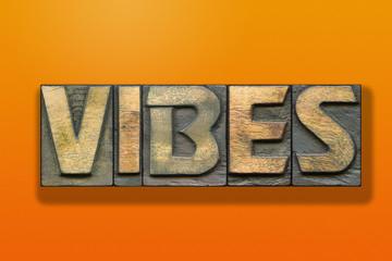 vibes word wooden orange