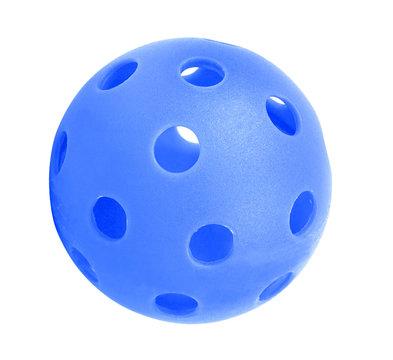 blue whiffle ball Isolated