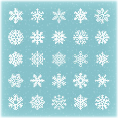 Beautiful winter vector snowflakes for xmas card and backgrounds