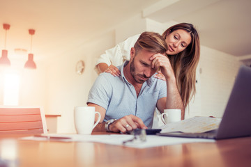 Couple having problem with bills