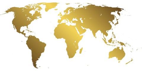 Foto auf Leinwand Weltkarte World map