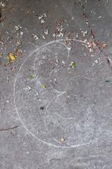 circular symbol on the floor