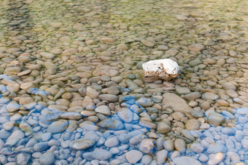 rock in the river