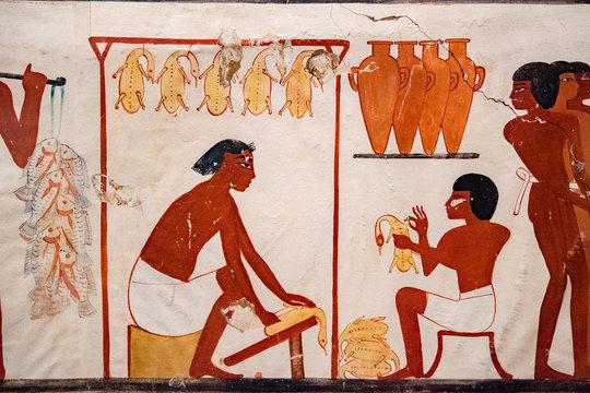 Luxor Egypt Hyerogliphs detail close up