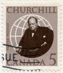 CANADA - 1965: shows Sir Winston Spencer Churchill (1874-1965), politician