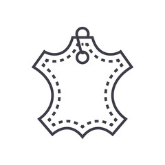 leather vector line icon, sign, illustration on white background, editable strokes