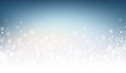 Festive winter blue background