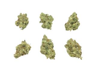 Marijuana Buds HDR Isolated On White Background Fotobehang