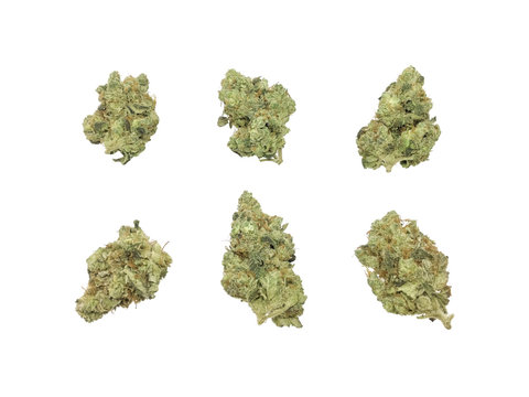 Marijuana Buds HDR Isolated On White Background