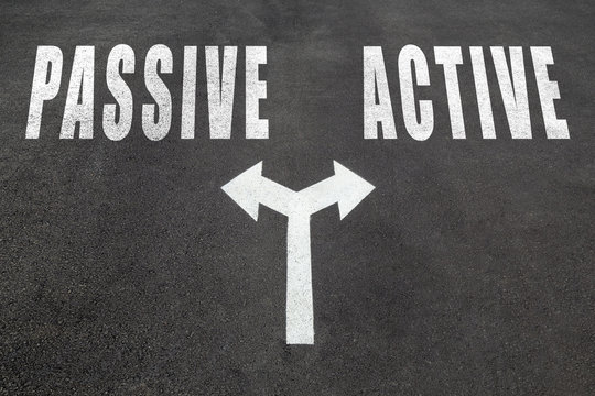 Passive or active choice concept