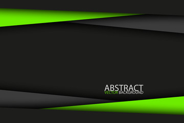 Black and green modern material design, vector abstract widescreen background Wall mural