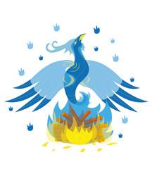 Beautiful blue ice bird phoenix