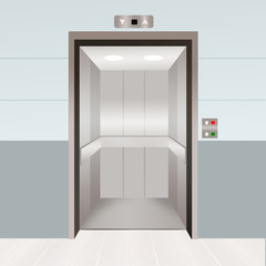 illustration of open elevator