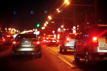 Evening traffic jam in the city