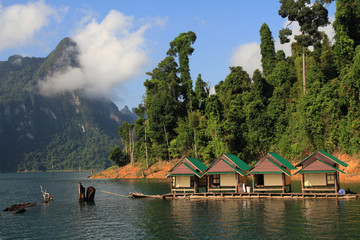 The Hut in Lake Khao Sok national park  of Thailand1
