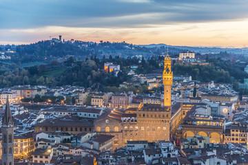 Italy, Tuscany, Firenze district, Florence, Piazza della Signoria, Palazzo Vecchio