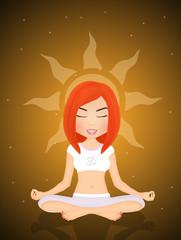 spiritual girl in meditation