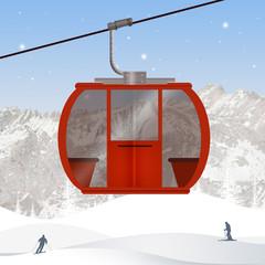illustration of ski lift