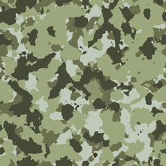 Camouflage seamless pattern design.Green colors.