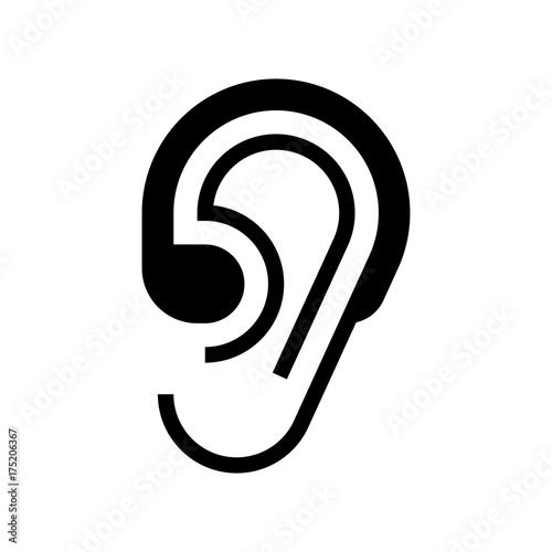 Hearing Aid And Ear Icon Stock Image And Royalty Free Vector Files