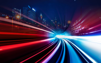 Concert of  light speed connecting to city