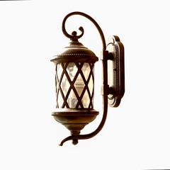 grunge fence lamp isolated on wihte background