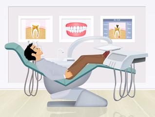 patient in the dentist studio