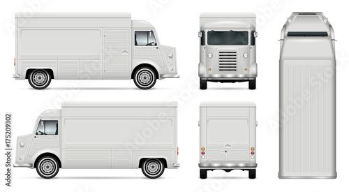 Quot Food Truck Vector Mock Up For Car Branding Advertising