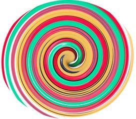 Spirale in Rot, Grün, Gold