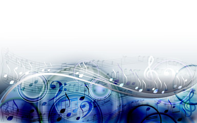 Abstract  sheet music design background with musical notes
