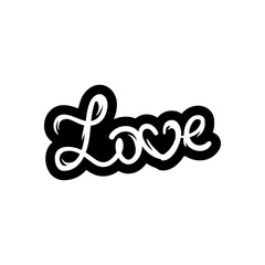 Love text. Hand-lettering calligraphy