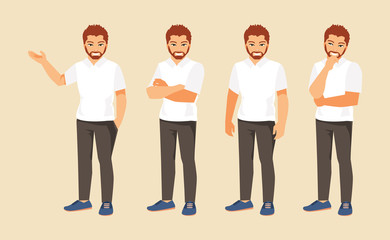 Man in different poses