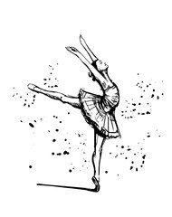 Sketch of ballerina