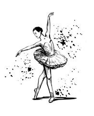 Sketch of ballerina