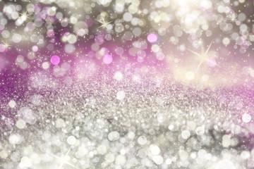 Abstract grey shiny glitter bokeh christmas background