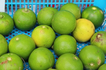 Fresh lemon for cooking in the market