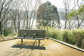 ベンチのある風景 恩賜箱根公園
