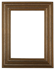 Wooden photo frame isolated on white1