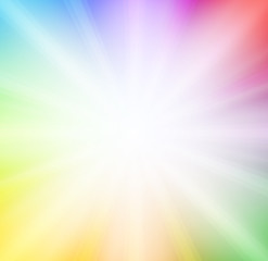 Soft rainbow background with bright light