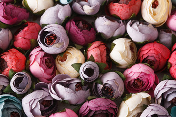 Beautiful artificial flowers variety