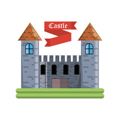 Castle of palace medieval and fairytale theme Vector illustration