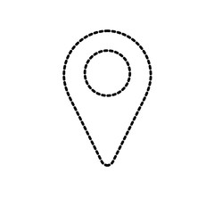 dotted shape location symbol to search in the map icon