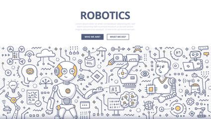 Robotics Doodle Concept