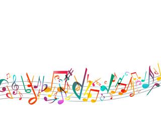 音符ミュージック背景イラスト白