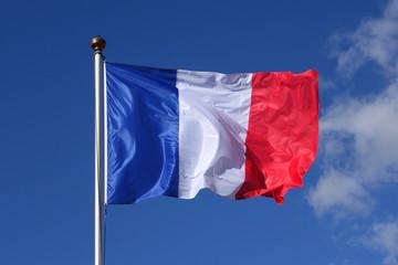 drapeau bleu blanc rouge gros plan