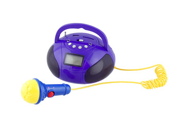 Toy music player with microphone.