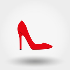 High Heel Shoes. Icon. Vector. Flat.