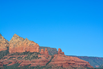 Towering landscape in Sedona Arizona